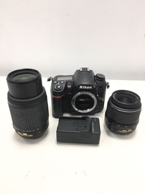 NIKON d7000 Digital camera kit w\ w/ 18-55 & 55-200 VR lenses (7764 Shutter count) for Sale in Revere, MA