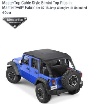 Jeep Wrangler JK 4 dr Bimini Top by Master Top-NEW for Sale in Long Beach, CA