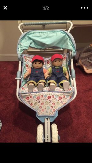 American girl dolls and stroller for Sale in South Hempstead, NY
