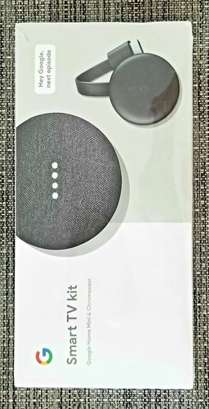 Sealed Smart TV Kit Google Home Mini Bluetooth Smart Speaker & Chromecast to cast your phone's screen to TV for Sale in Hollywood, FL