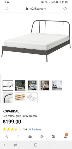 Ikea bed frame king for Sale in Knoxville, TN