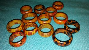 13 different rings made of bamboo for Sale in Killeen, TX