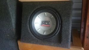 Mtx 10in subwoofer speaker and box for Sale in Midlothian, VA