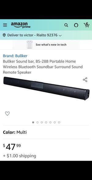 Sound bar, BS-28B Portable Home Wireless Bluetooth Soundbar Surround Sound Remote Speaker for Sale in Rialto, CA