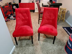 Nice Red Chairs for sale. Like New! for Sale in Brentwood, NC