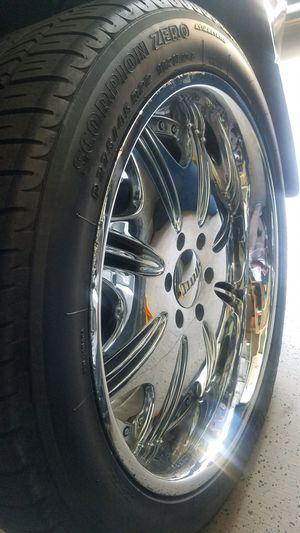 "22"" DUB Chrome Rims & Pirelli Tires for Sale in Henderson, NV"