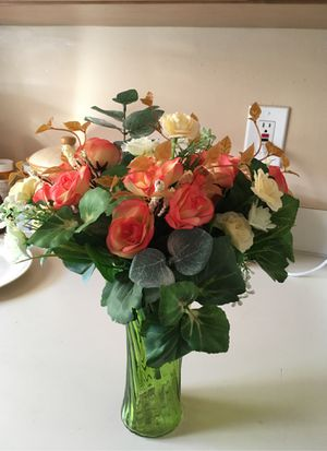 Faux flower in vase for Sale in Philadelphia, PA