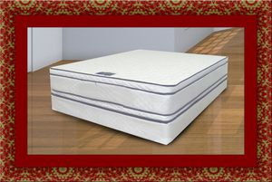 Queen mattress double pillowtop with box spring for Sale in Rockville, MD