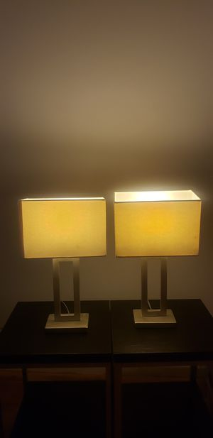 Set of Night lamp with white shade for Sale in Romeoville, IL