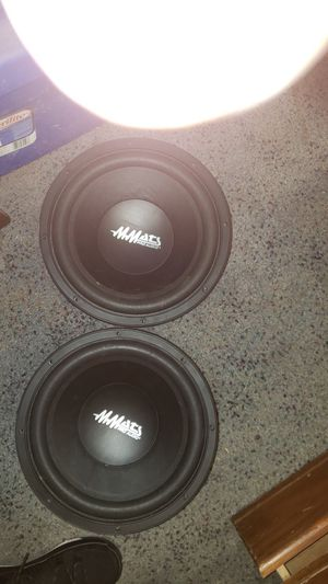 2 12 in mmats pro audio and 1k amp for Sale in Lawrenceville, GA