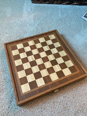 Chess Backgammon Game Board for Sale in Napa, CA