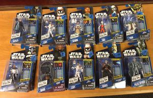 Star Wars the clone collectible action figures for Sale in Tampa, FL