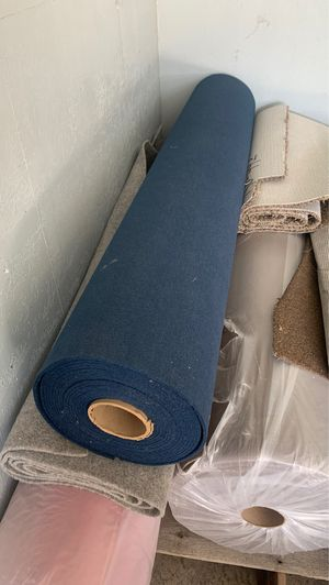 Navy blue marine/boat carpet 6' wide cut to order for Sale in Tonto Basin, AZ