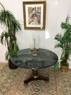 Empire Style Green Marble Top Entry, Kitchen Breakfast Table (Delivery Service Available) for Sale in Boynton Beach, FL