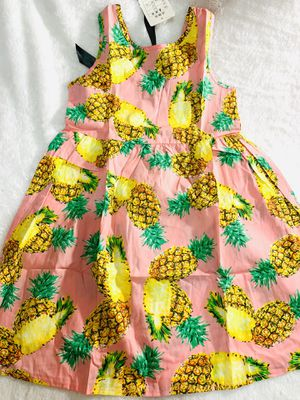 6x pineapple summer dress for Sale in National City, CA