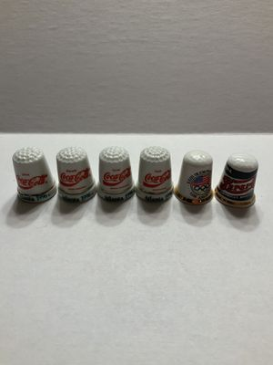 Coke and Pepsi branded thimbles for Sale in Apple Valley, MN