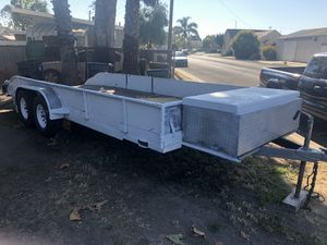18' long x7' wide inside measurements Carson built car trailer for Sale in Santa Maria, CA