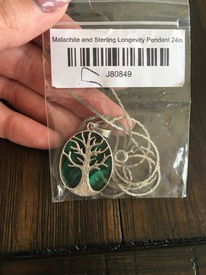Brand New Malachite and Sterling Longevity Necklace for Sale in Los Angeles, CA