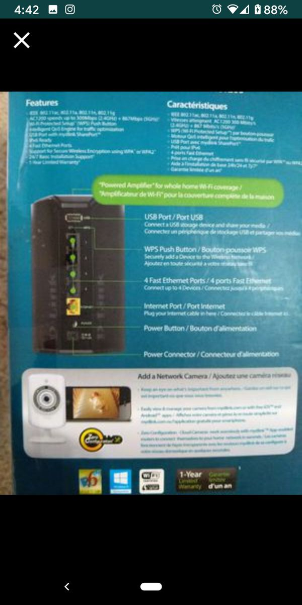 Dlink Dual Band WiFi Router