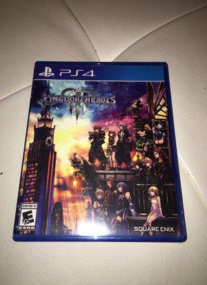 KINGDOM HEARTS 3 (III) PS4 GAME for Sale in Dallas, TX