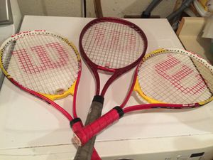 Wilson tennis rackets for Sale in Londonderry, NH