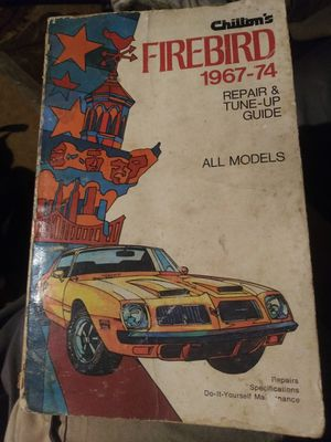 Chilton's Firebird 1967-1974 manual for Sale in Mableton, GA