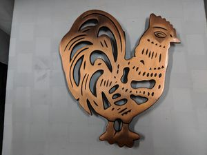 Brass Colored Cast Iron Chicken shaped Trivet for Sale in Holiday, FL