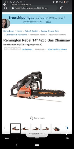 """Remington 14"""" Chainsaw for Sale in Thompson Ridge, NY"""