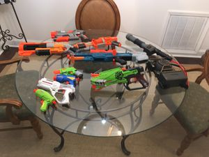 Nurf guns and ghostbusters gun for kids for Sale in Charlotte, NC