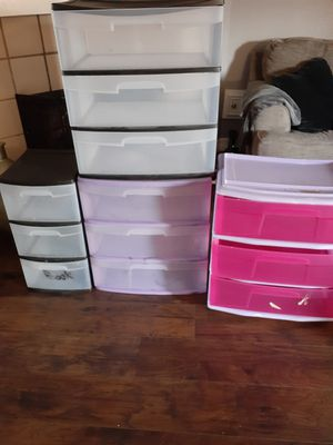Plastic drawers for Sale in Katy, TX