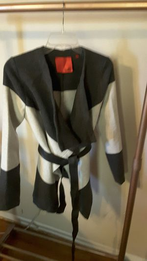5/48 brand block wool cardigan with leather belt closure for Sale in Sanger, CA