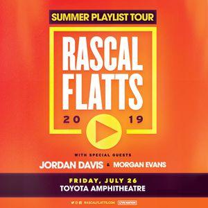 Rascal Flatts 7/26/19 Toyota amphitheater for Sale in Stockton, CA