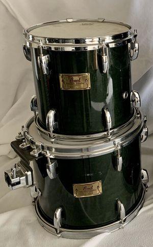"Pearl Drums Masters Studio Birch Shell Dark Green 10"" & 12"" Tom set for Sale in Martinez, CA"