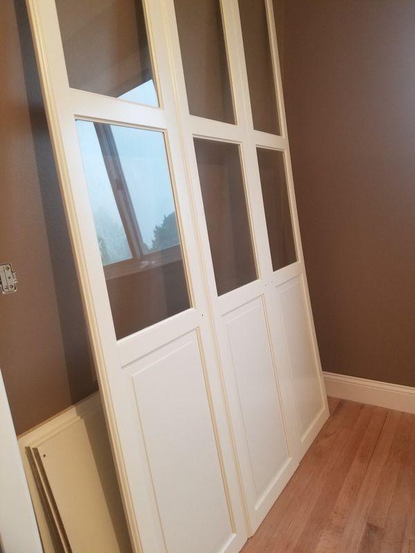 IKEA Glass and White closet DOORS