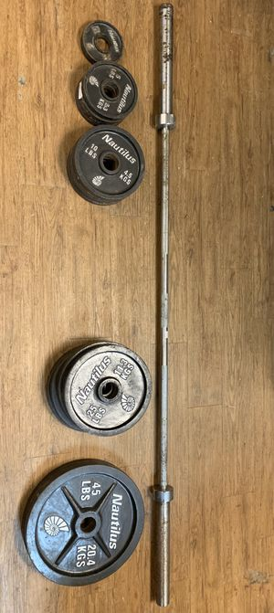 Nautilus Weight Set and Bar for Sale in Houston, TX