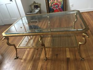 Very rare and unique glass coffee table with birds as the legs! for Sale in Alexandria, VA