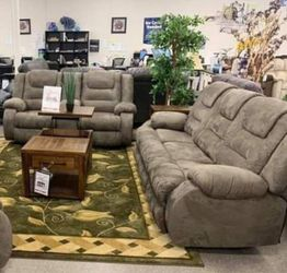 Mc cade cobblestone reclining sofa and loveseat for Sale in Houston,  TX