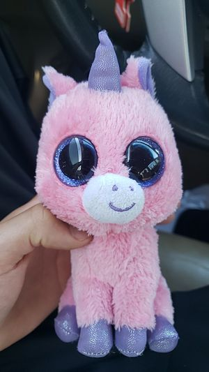Pink unicorn, ty, stuffed animal for Sale in Pleasanton, CA