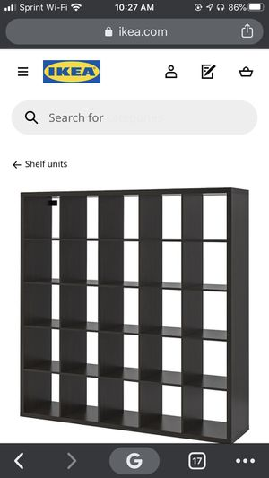 HUGE IKEA KALLAX shelving bookcase storage divider unit for Sale in Pawtucket, RI