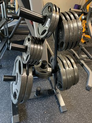 BRAND NEW Olympic GRIP Weight Plate Set - 290lbs - Weights Only for Sale in Castro Valley, CA