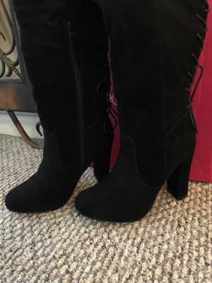 Shoedazzle Heeled boots black (New) size 6.5 for Sale in Spring, TX