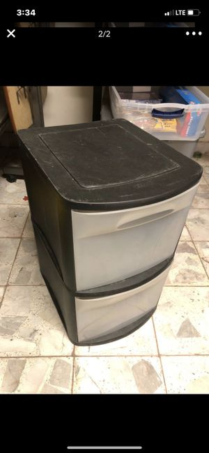 Sterilite plastic 2 drawer bin for Sale in Ontario, CA