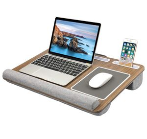 HUANUO Lap Desk - Fits up to 17 inches Laptop Desk, Built in Mouse Pad & Wrist Pad for Notebook, MacBook, Tablet, Laptop Stand with Tablet, Pen & Pho for Sale in Bakersfield, CA