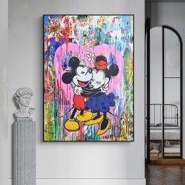 Mr Brainwash Love Mouses Graffiti Wall Art Love Print High Quality Art Wall Moises Modern Wall Art 32 Inch X 40 Inch for Sale in North Miami Beach, FL