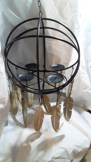 Gold Leaf black candle holder for Sale in DEVORE HGHTS, CA