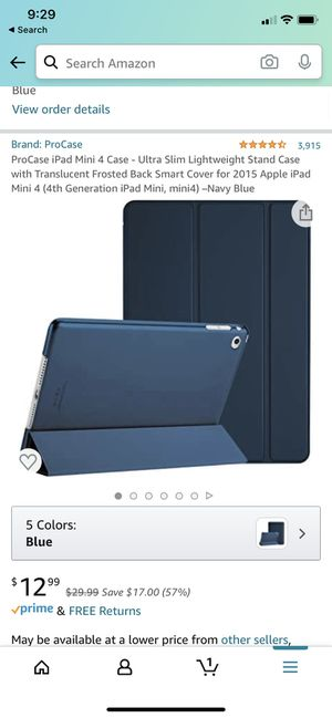 Blue iPad Mini Cover for Apple Mini #4 for Sale in Youngsville, NC