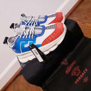 Designer Chain Reaction Versace Shoes(red,white,blue) for Sale in Silver Spring, MD