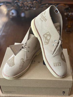 Clarks X Bape Desert Boots Ivory Sz 9 for Sale in Herndon, VA