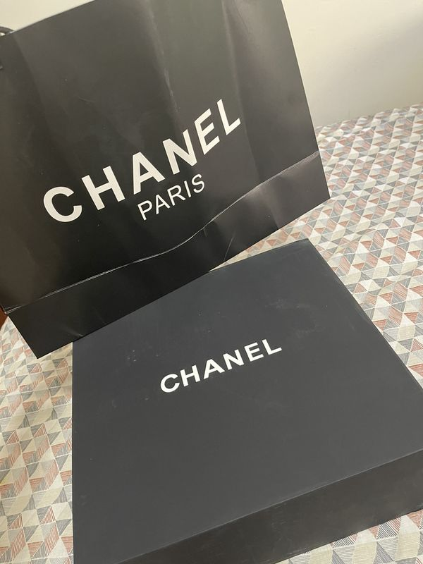 Chanel Large Shopping Bag And Box 2 Sizes Available