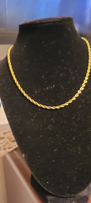 16 in rope chain for Sale in Blackwood, NJ